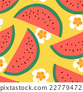Watermelon seamless pattern. Vector background. 22779472
