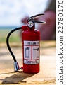Red fire extinguisher 22780170