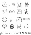 Set of exercise icons. Vector illustrations. 22786618