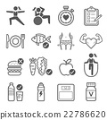Diet and exercise icons. Vector illustrations. 22786620