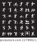 Set of sport icons. 22786621