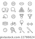 Set of sport icons. Vector Illustrations. 22786624
