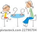 母亲和女儿交谈 22790704