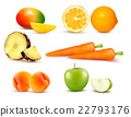 Big group of different fruit and vegetables. 22793176