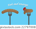 Fork and sausages 22797008