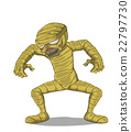 Mummy Character vector. Monster in Halloween night 22797730