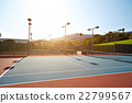 Outdoor tennis court with nobody in Malibu 22799567