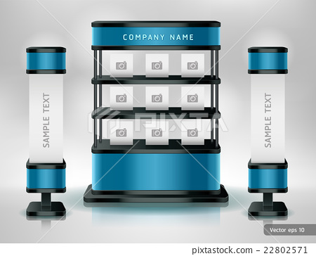 Exhibition Stand Free Vector : Trade exhibition stand display. stock illustration [22802571] pixta