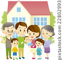 family, own home, one's home 22802993