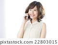 女性 白底 智能手机 22803015