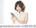 여성, 여자, 스마트폰 22803018