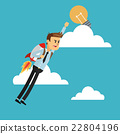 businessman, rocket, man 22804196