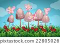 蘑菇 蝴蝶 蚂蚁 22805026