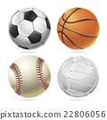 Set of Sport balls. Vector illustration 22806056