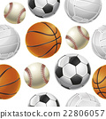 Sport Balls Set Seamless pattern.  22806057