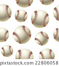 Baseballs Seamless pattern. Vector illustration 22806058