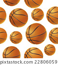 Basket balls Seamless pattern. Vector illustration 22806059