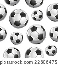 Soccer Balls Seamless pattern. Vector illustration 22806475