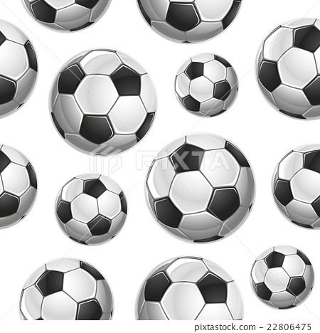 Soccer Balls Seamless pattern. Vector illustration 22806475