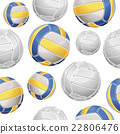Volley Balls Seamless pattern. Vector illustration 22806476