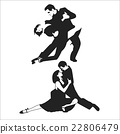 Tango Dancers. Vector illustration 22806479