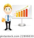 Successful business man. Cartoon character. 22806630