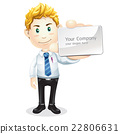 Business man handing a blank business card. 22806631