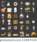 coffee shop icons. 22807439