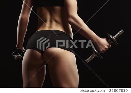 Sexy fitness ass close-up 22807850