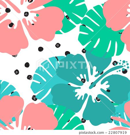 Seamless tropical floral pattern backgroun 22807919