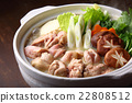 food cooked in a pot, cooking in a pot, pot of chicken or seafood 22808512