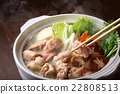 food cooked in a pot, cooking in a pot, pot of chicken or seafood 22808513