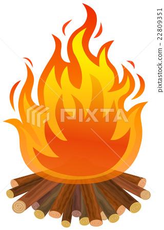 bonfire, fiery, blaze 22809351