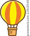 気球(黄色) 22810540