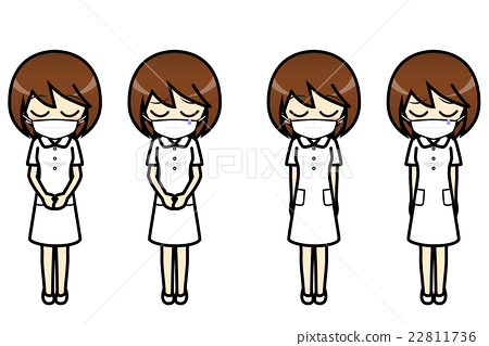 Conversation · Facial Illustration Collection Nurse (Mask) Female Apology 22811736