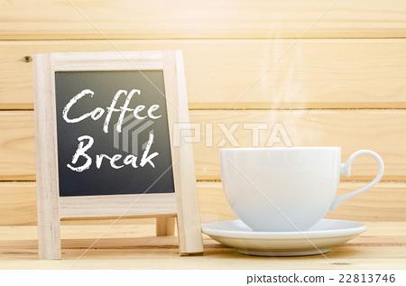 Stock Photo: Coffee Break on chalkboard.