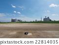 baseball field, summer, arakawa riverbed 22814035