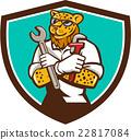 Leopard Mechanic Spanner Monkey Wrench Crest  22817084