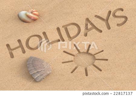 summer holidays, 3D rendering 22817137