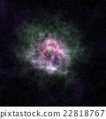 彩色太空/银河系星云纹理背景(无缝接图,高分辨率 3D CG 渲染∕着色插图) 22818767