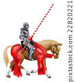 Medieval Knight on Horse 22820221