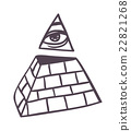 Pyramide vector illustration. 22821268