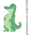 Cartoon green crocodile reptile flat vector 22821284