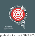 Flat illustration of targeting with icons 22821925