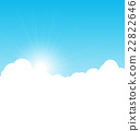 Blue sky background with clouds. Vector 22822646