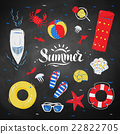 Summertime top view illustrations 22822705