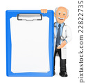 3D Doctor with a blank clipboard 22822735