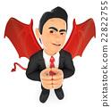 3D Businessman devil 22822755
