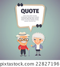 Quote Speech Banner and Elderly Couple 22827196