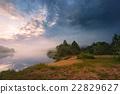 Misty morning on the lake. 22829627